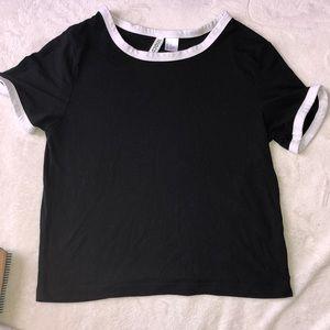 comfy black crop top